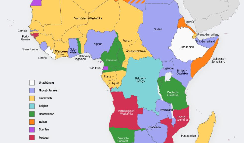 Kolonisation Afrikas 1914, Herkunft: Wikipedia [0]