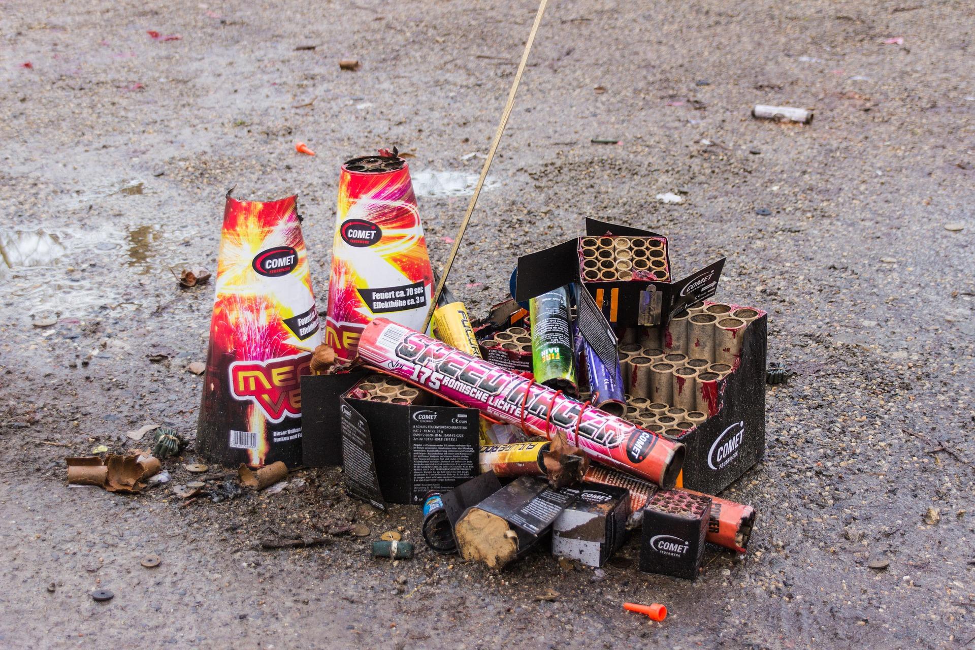 Feuerwerk Müll